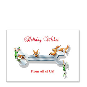 Personalized Full-Color Automotive Holiday Postcards - Wrench Play