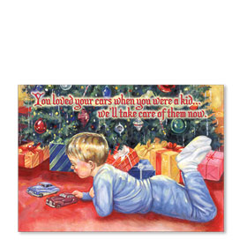 Personalized Full-Color Automotive Holiday Postcards - Christmas Wishes