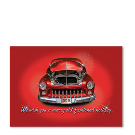 Personalized Full-Color Automotive Holiday Postcards - Sparkling Chrome