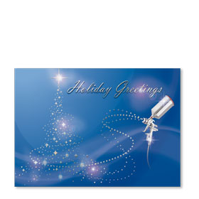 Personalized Full-Color Automotive Holiday Postcards - Holiday Magic