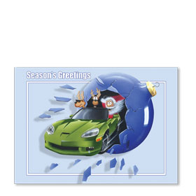 Personalized Full-Color Automotive Holiday Postcards - Breakthrough