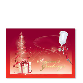 Personalized Full-Color Automotive Holiday Postcards - Spray Gun Gift