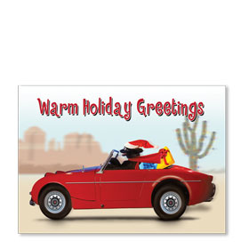 Personalized Full-Color Automotive Holiday Postcards - Dog Gone Holiday