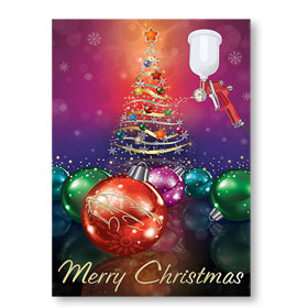 Personalized Full-Color Automotive Holiday Postcards - Rainbow Gold