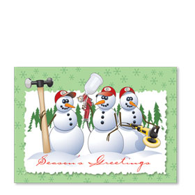 Personalized Full-Color Automotive Holiday Postcards - Repair Ready