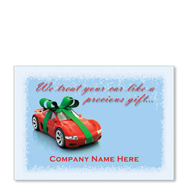 Double Personalized Full-Color Automotive Holiday Postcards - Precious Gift