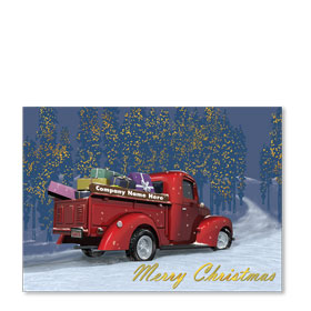 Double Personalized Full-Color Automotive Holiday Postcards - Christmas Delivery