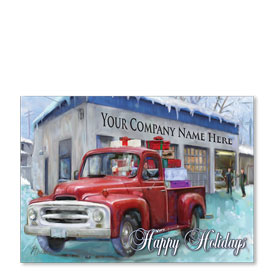 Double Personalized Full-Color Automotive Holiday Postcards - Homebound Delivery