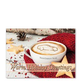 Double Personalized Full-Color Automotive Holiday Postcards - Holiday Warmth