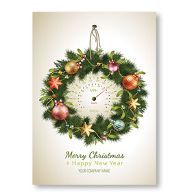 Double Personalized Full-Color Automotive Holiday Postcards - High Speed Decor
