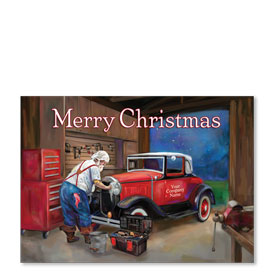 Double Personalized Full-Color Automotive Holiday Postcards - Vigilant Repair