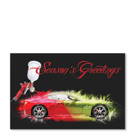 Double Personalized Full Color Holiday Postcard - Holiday Splash