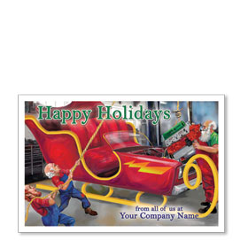 Double Personalized Full Color Holiday Postcard - Holiday Overhaul