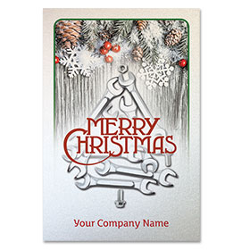 Pearl Paper Flat Cards - Christmas Wrenches