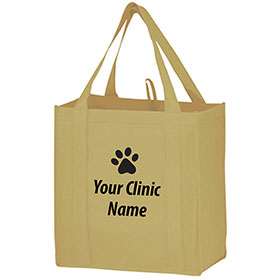 "Custom Reusable Recyclable Grocery Bags - 12"" x 8"" x 13"""