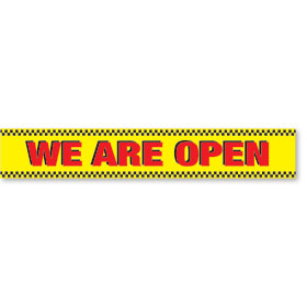 Jumbo Heavy-Duty Banners - WE ARE OPEN