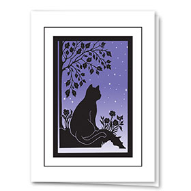 Sympathy Card-Sympathy Peaceful Cat