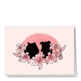 Pet Sympathy Cards - Sunset Flowers