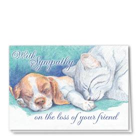 Pet Sympathy Cards - With Sympathy