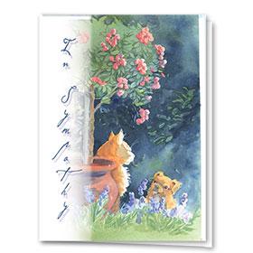 Pet Sympathy Cards - Secret Garden