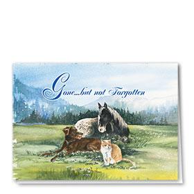 Pet Sympathy Cards - Peaceful Meadow