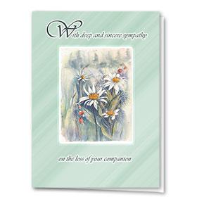 Pet Sympathy Cards - Wild Flowers