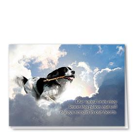 Dog Sympathy Cards - Serene Clouds