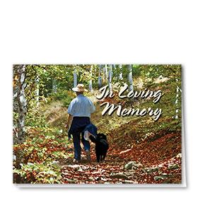 Dog Sympathy Cards - Peaceful Stroll