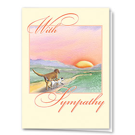 Pet Sympathy Cards - Into the Sunset