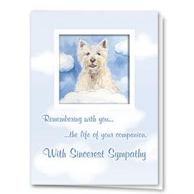 Dog Sympathy Cards - Remembering