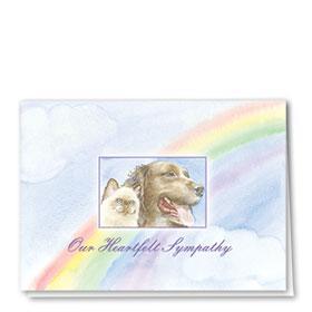 Pet Sympathy Cards - Rainbows End
