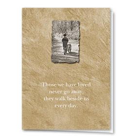 Dog Sympathy Cards - Walk Beside Us