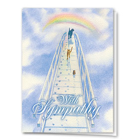 Sympathy Card-Over The Bridge