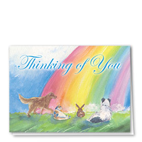 Sympathy Card-Restful Rainbow
