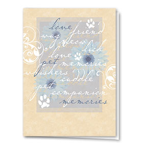 Sympathy Card-Blue Memories