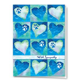Pet Sympathy Cards - Painted Blue