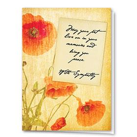 Pet Sympathy Cards - Poppy Sympathy