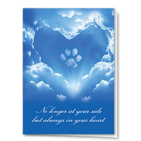 Pet Sympathy Cards - Paw in the Clouds