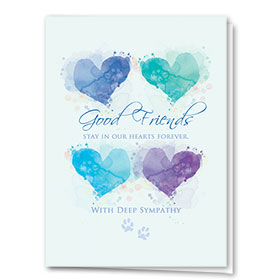 Sympathy Card-Friends Heart