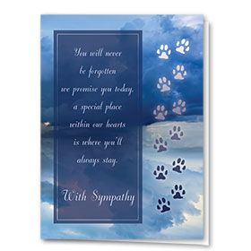 Pet Sympathy Cards - Our Promise