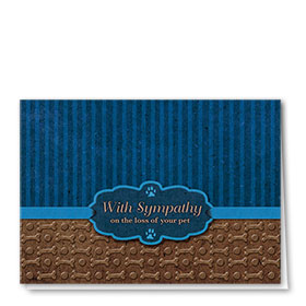 Pet Sympathy Cards - Blue Ribbon