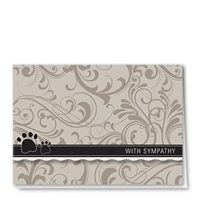 Pet Sympathy Cards - Shades of Gray