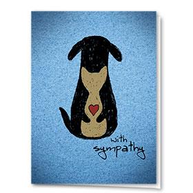Pet Sympathy Cards - Warm Embrace