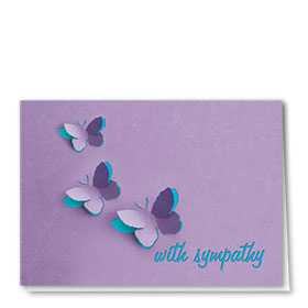 Pet Sympathy Cards - Butterfly Trio