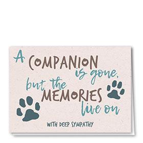 Sympathy Card-Memories Live