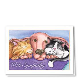 Sympathy Card-Hound Hug