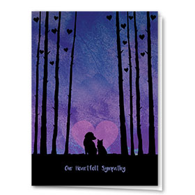 Sympathy Card-Forest of Love