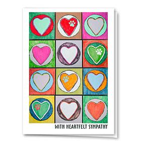 Pet Sympathy Cards - Heart Palette