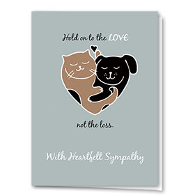 Pet Sympathy Cards - Hug Heart