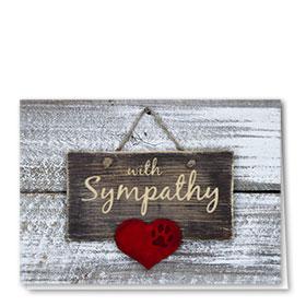 Pet Sympathy Cards - Sympathy Sign